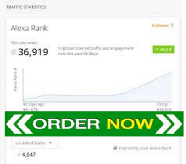 I will increase your USA alexa rank below 49k and global alexa rank below 490k