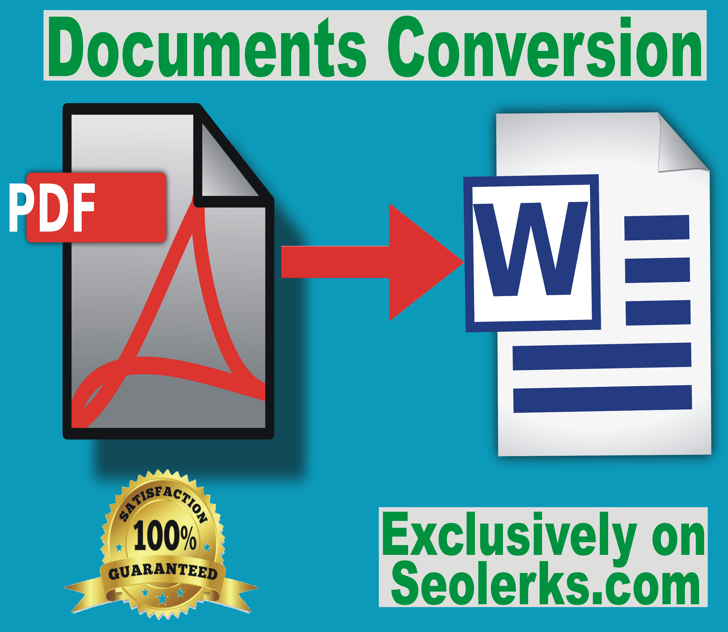 I will convert your PDF format documents to Microsoft Word format documents for $5.