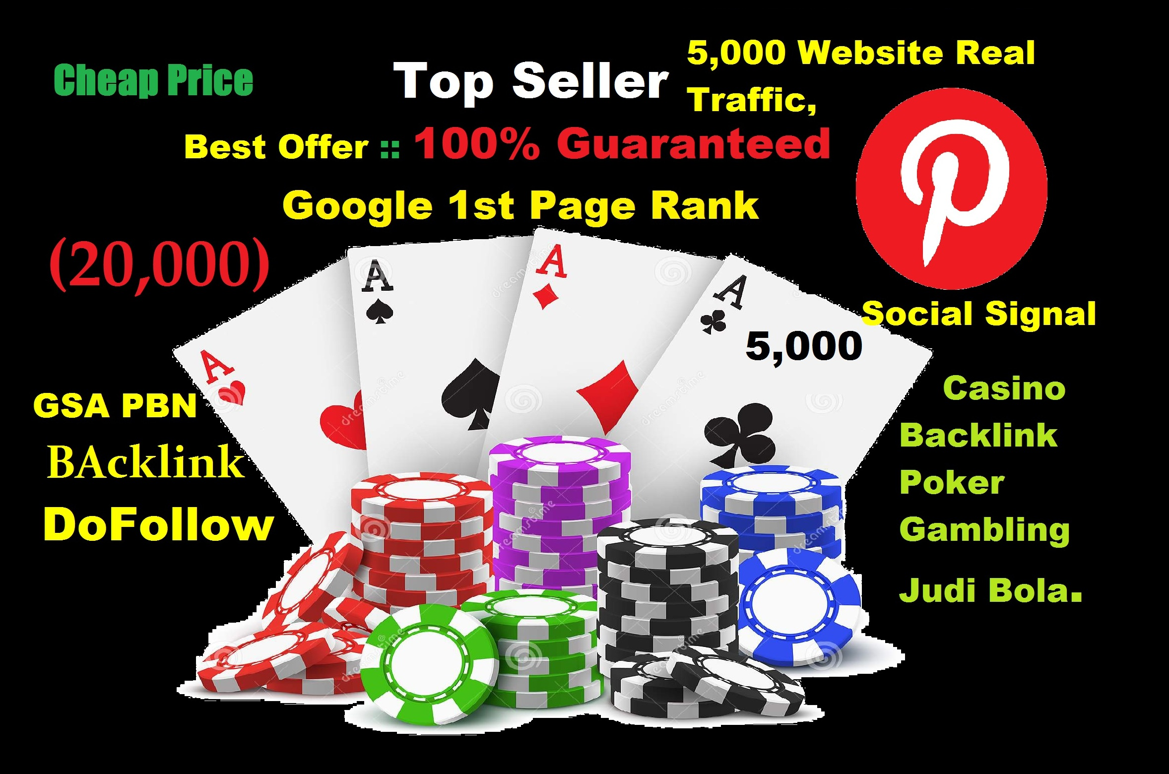 Google Rank Pinterest Social Signal Instagram Traffic GSA Backlink Casino Poker Gambling Online Bet