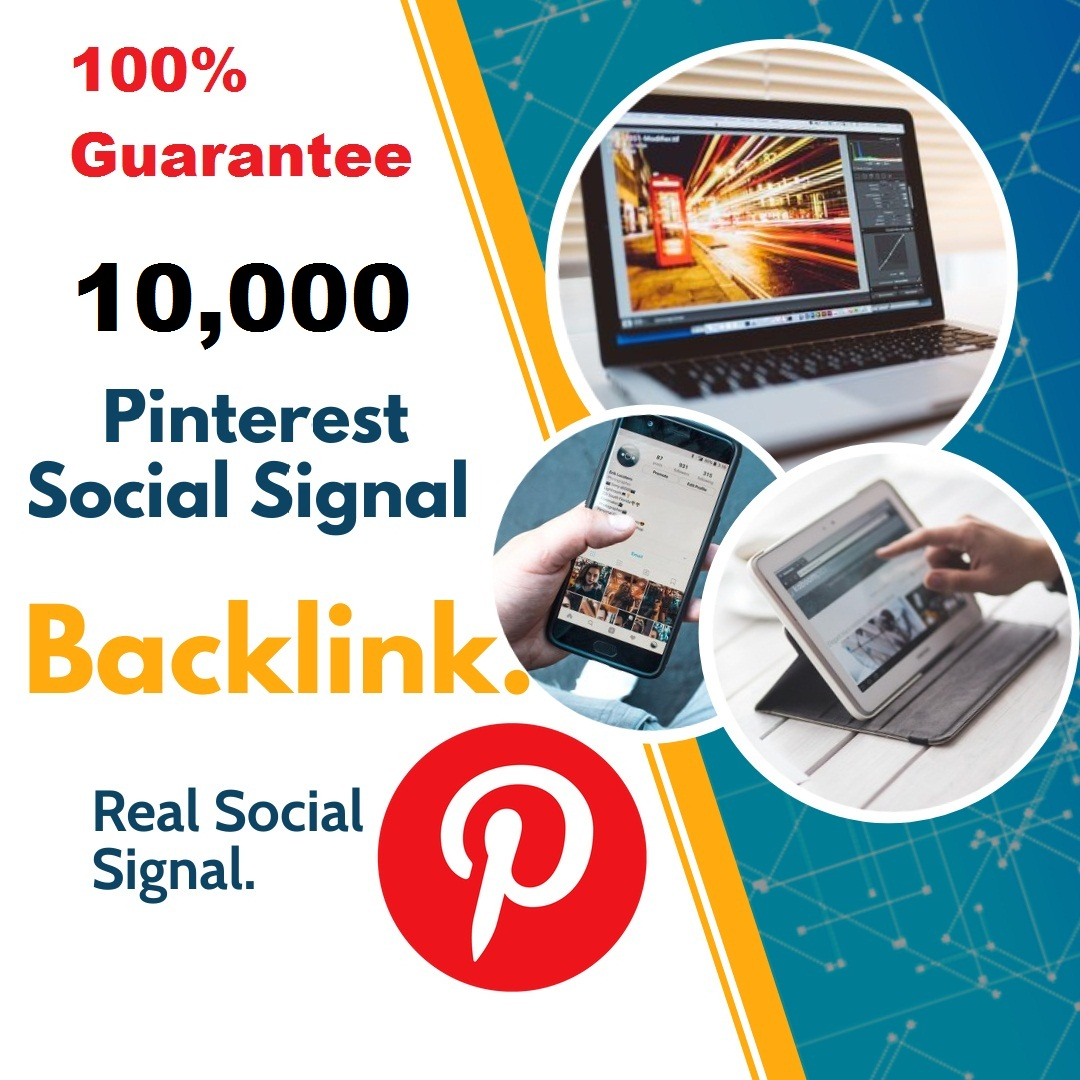 Powerful Top Platform 10,000 Pinterest Social Signal Mix To Boost Visibility in Social Networks