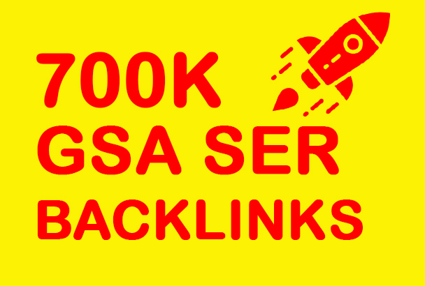 Bumper Offer 7, 00,000 HQ Powerful GSA Backlinks For Increase LinkJuice Faster Index on Google only
