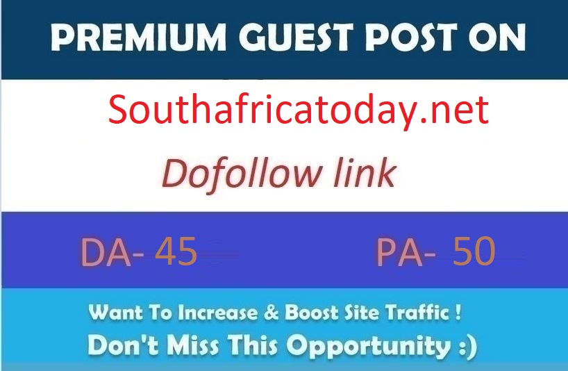 Publish a guest post on Southafricatoday.net DA55