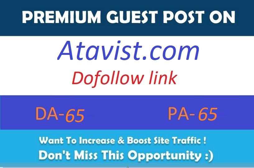 Publish guest post on Atavist. com Da- 65