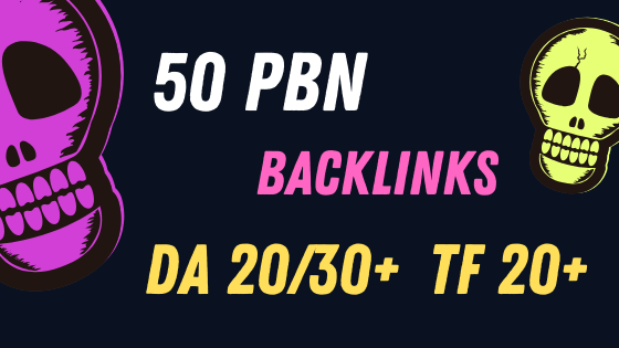 50 PBN Backlinks with Very Good Metrics,  Domain Authority 20/30+ Trust Flow 10/20+