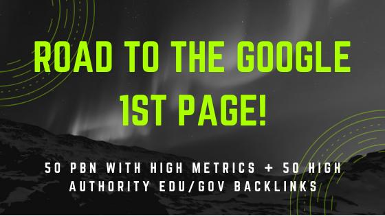 50 High metrics PBN Backlinks + 50 EDU/GOV High authority Backlinks
