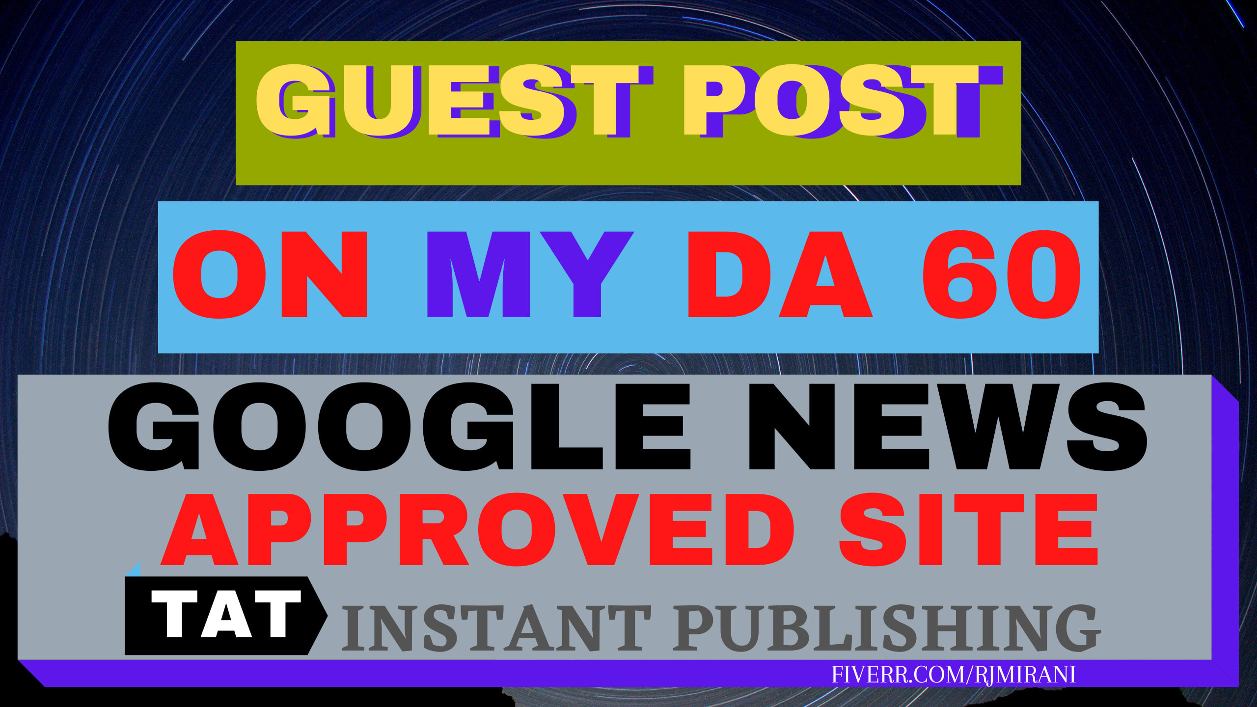 Do high quality SEO guest post on google news approved site