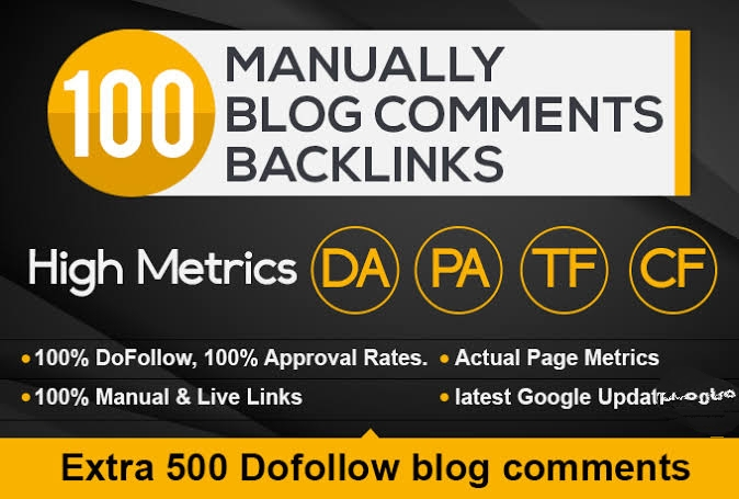 Provide 100 Dofollow Blog Comments Backlinks High Quality,  General Sites
