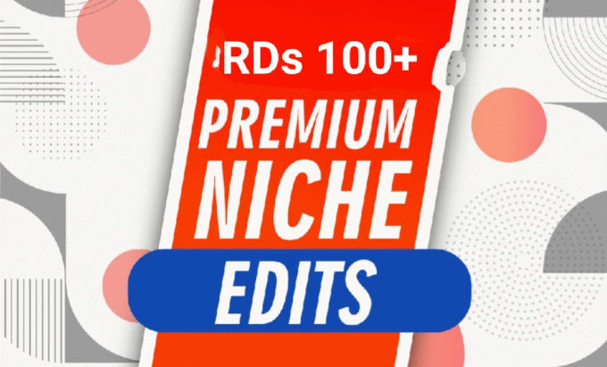 I will powerful curated niche edit links on real websites rd100 plus