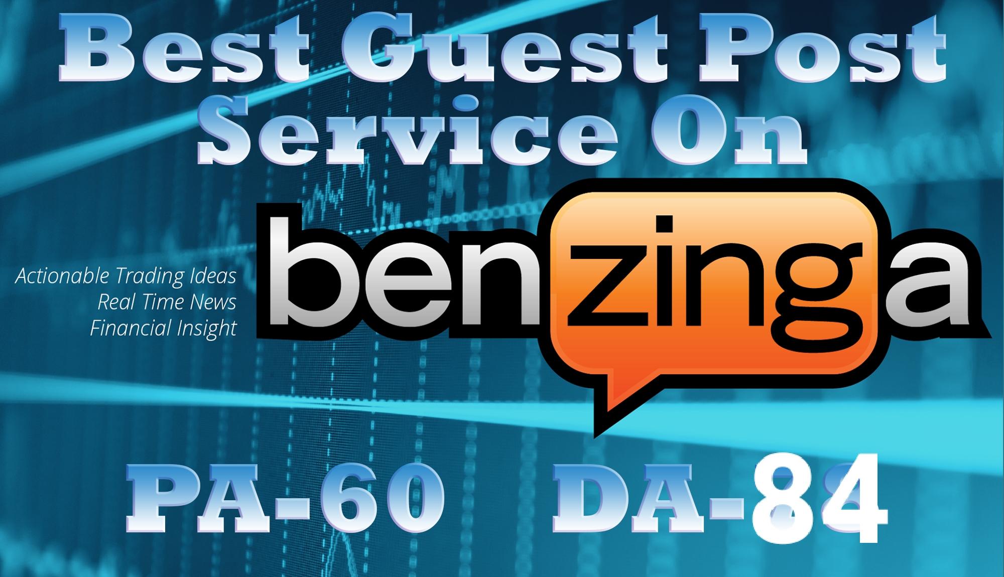 I will write and publish your article Da 84 benzinga com PR High premium website