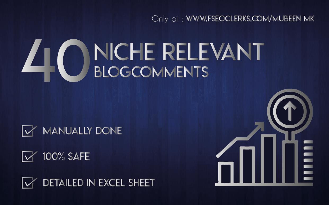Do 40 Niche Relevant Blog Comments Backlinks