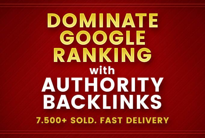 5000 SEO BACKLINKS-Dominate Google Ranking With Authority Seo Backlinks