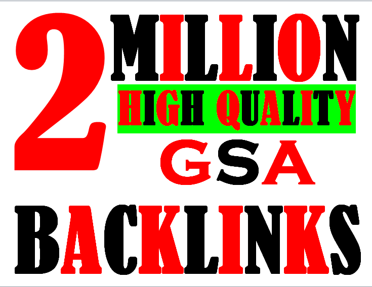 2 Million verified GSA Backlink for websites,  videos to achieve your goal