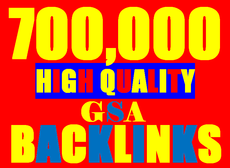 700K verified GSA Backlink for websites,  videos to achieve your goal