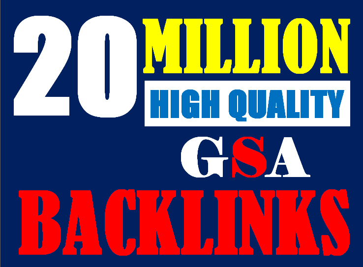 20 Million verified GSA Backlink for websites,  videos to achieve your goal