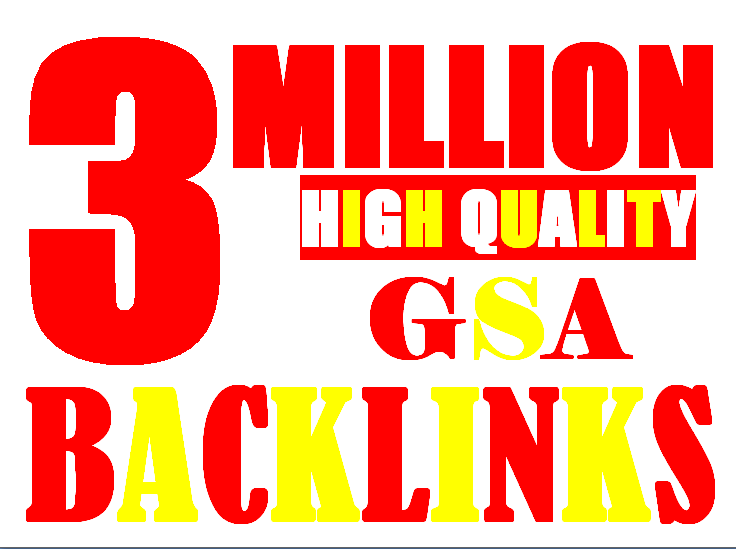3 Million verified GSA Backlink for websites,  videos to achieve your goal