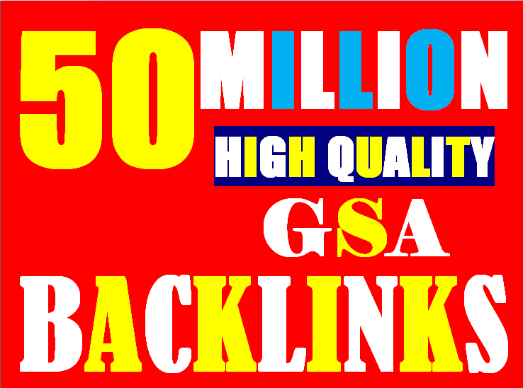 50 Million verified GSA Backlink for websites,  videos to achieve your goal