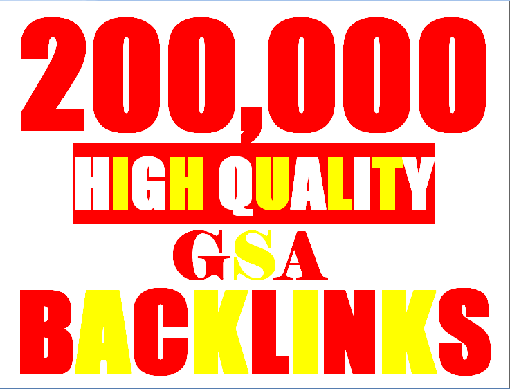 200,000 verified GSA Backlink for websites, videos to achieve your goal