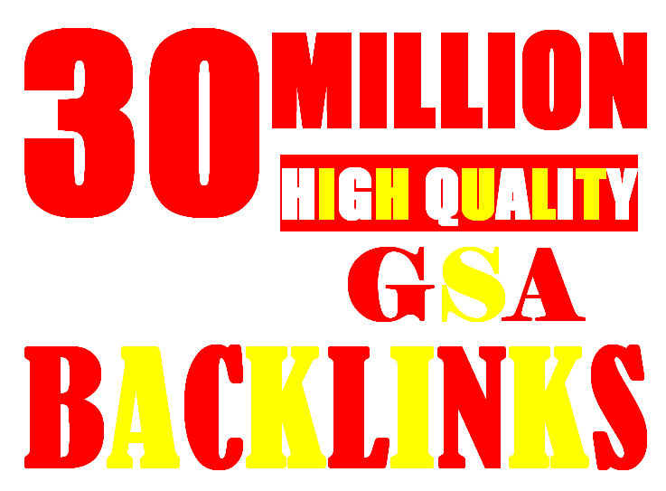 30 Million verified GSA Backlink for websites,  videos to achieve your goal
