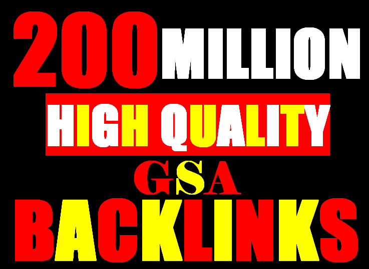 200 Million verified GSA Backlink for websites,  videos to achieve your goal