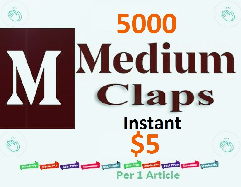 Instant 5000 Medium Claps Worldwide human genuine users
