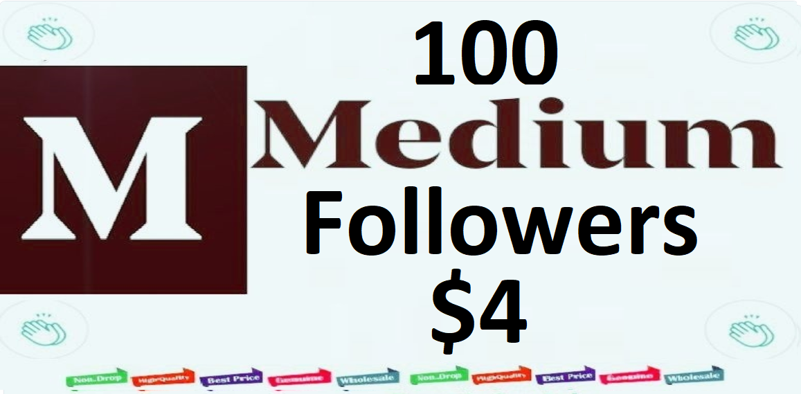 Instant High Quality 100+Medium Followers fast,  Worldwide human genuine users