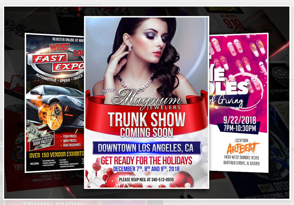 Design you an attractive flyer for your product or event rifold,  brochure design