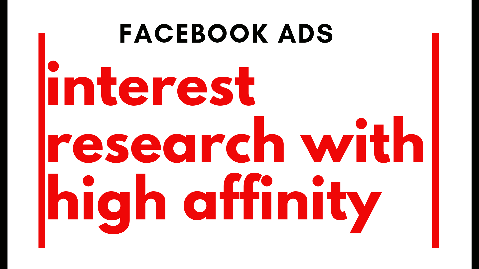 Facebook ads targeting interest research