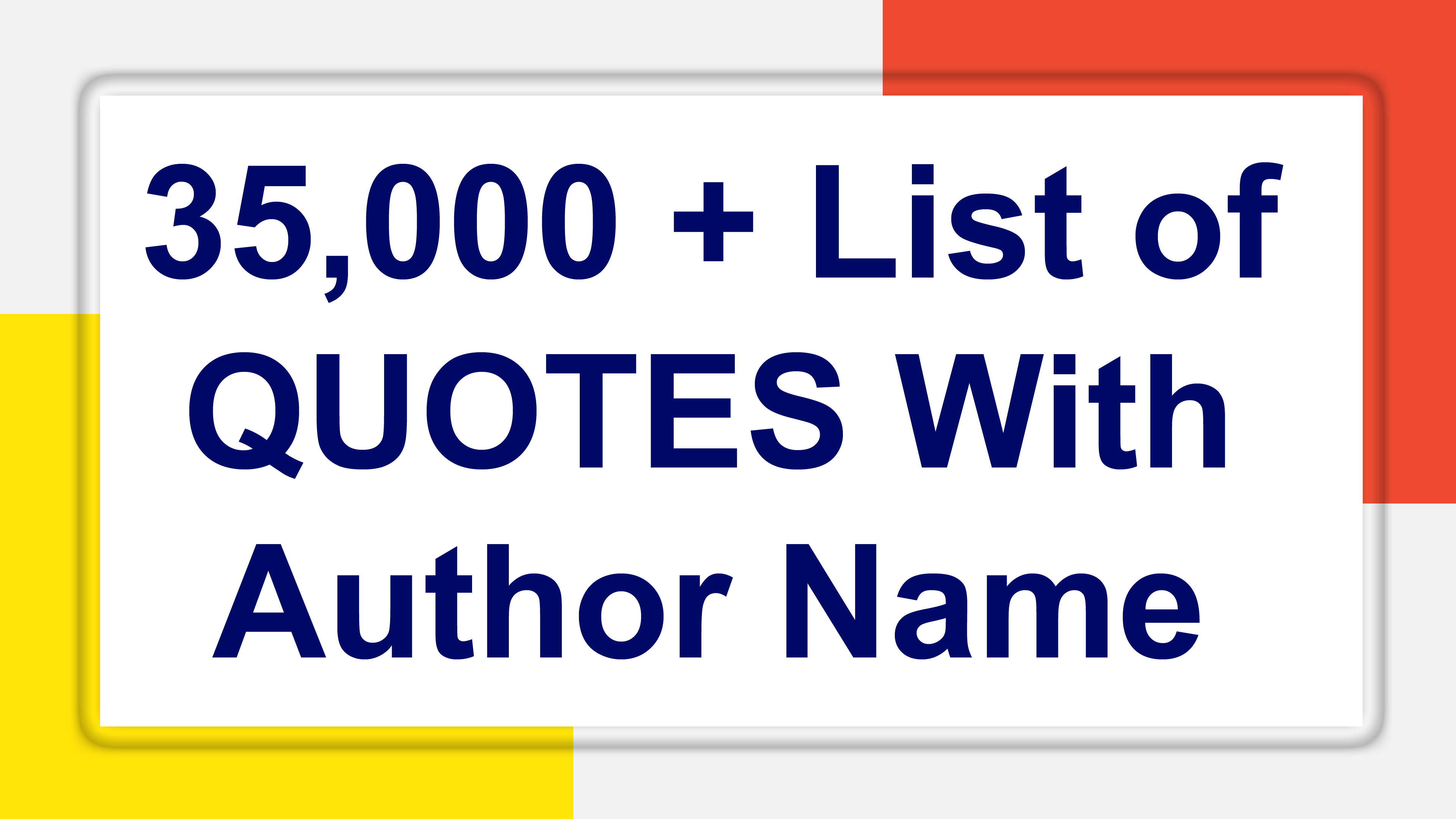 I will give you 35000 quotes in excel file