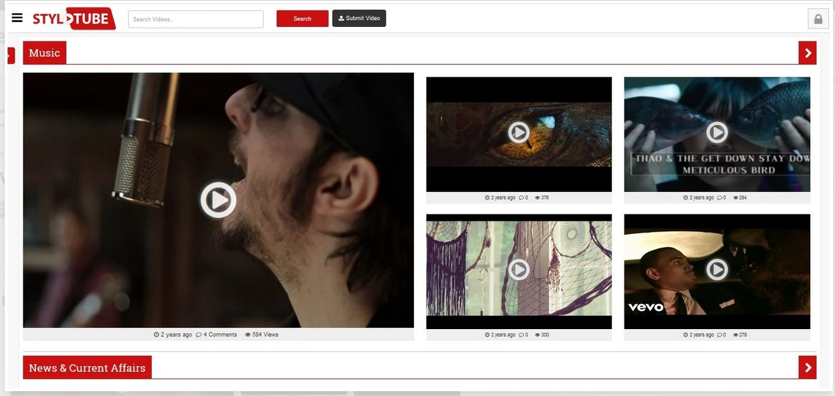 design tube wordpress site for videos