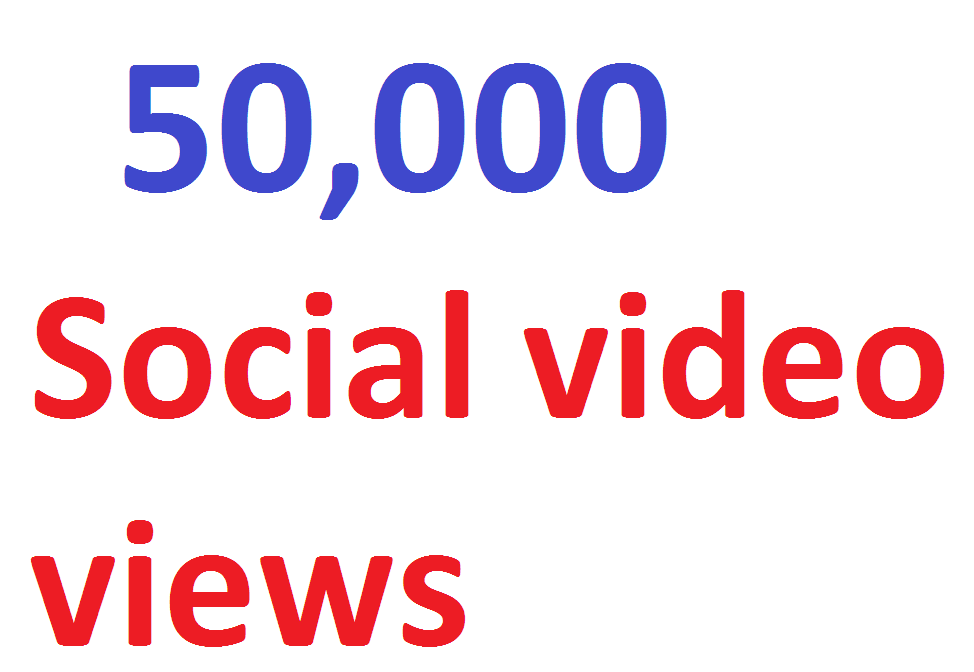 50,000 video Views Lifetime Guarantee And High Retention Instant Start
