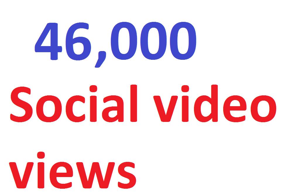 46,000 video Views Lifetime Guarantee And High Retention I