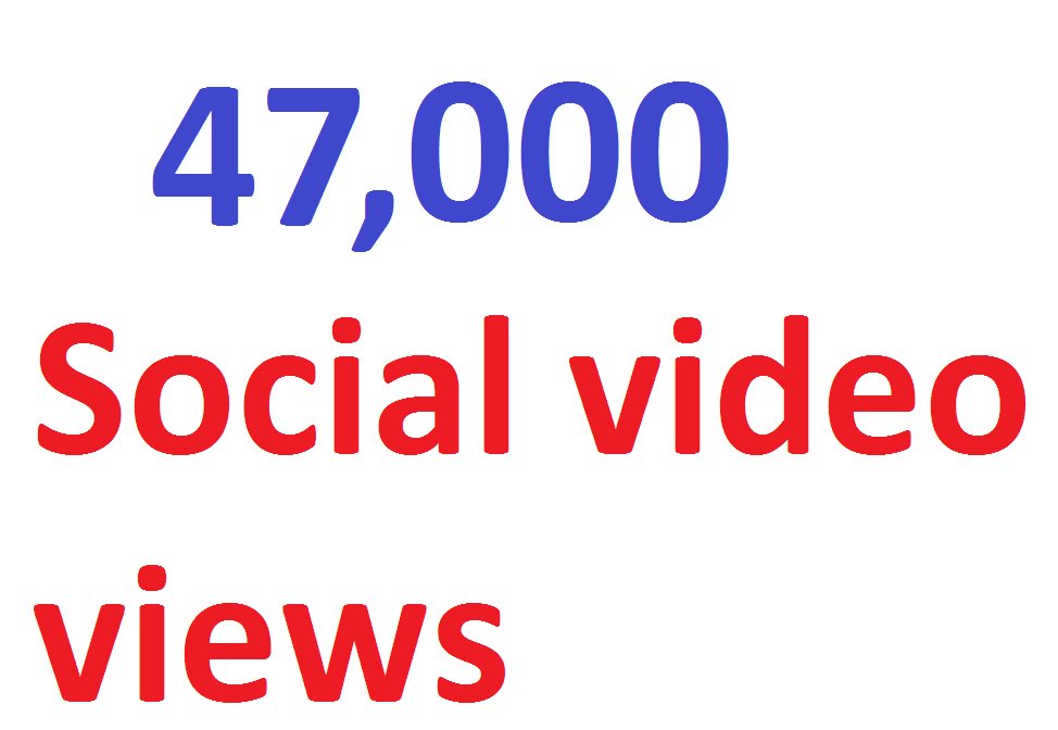 47,000 video Views Lifetime Guarantee And High Retention Instant Start