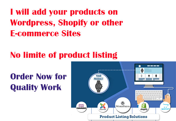 Add your products on Wordpress,  Shopify & other E-commerce Sites