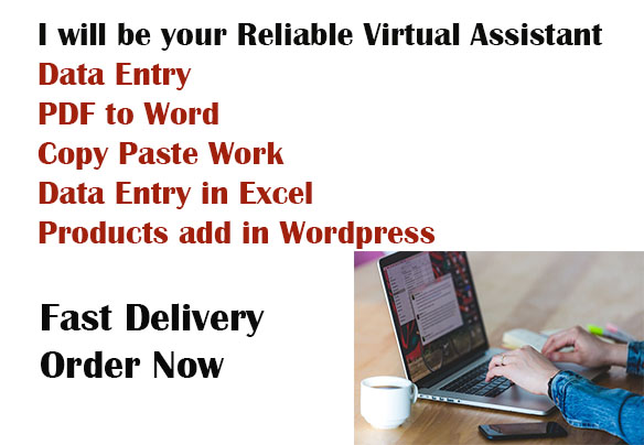 I will be your Reliable & Professional Virtual Assistant