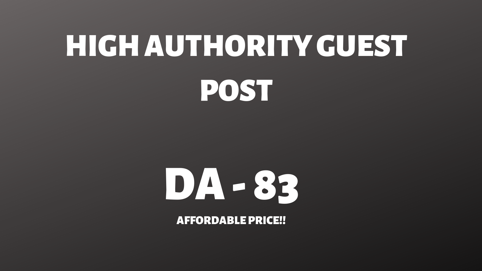 High authority Guestpost on DA -83 website with backlink.