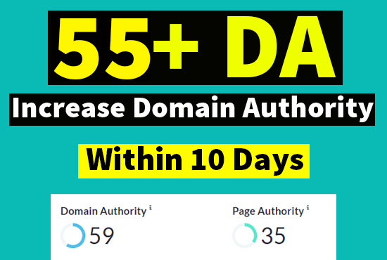 I will increase domain authority da moz 55