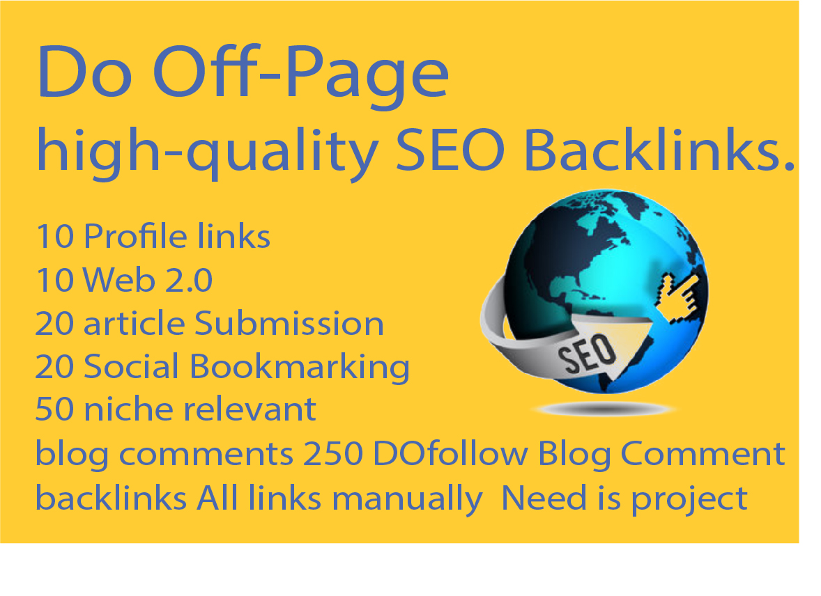 do off-page high SEO backlinks