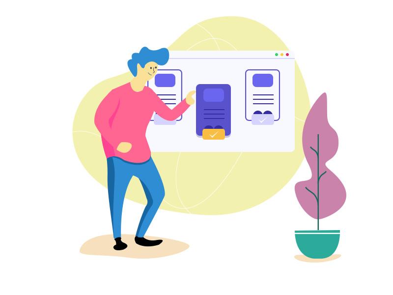 Do design illustration for your website,  blog and social media use