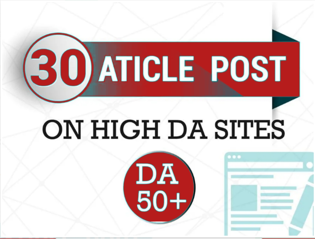 I will Do make 30 article submission in SEO backlinks