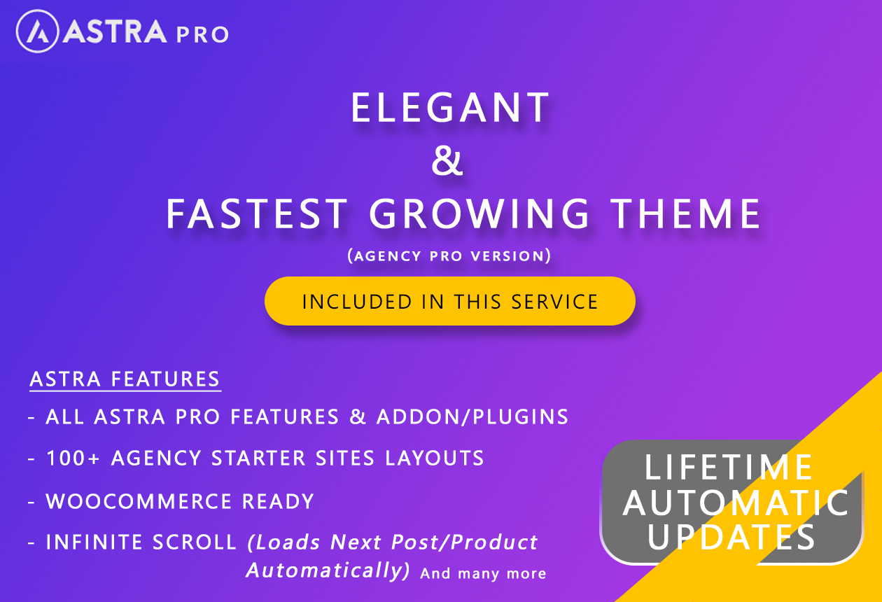 Elementor Pro with JetElements and Astra Pro (Lifetime Updates)