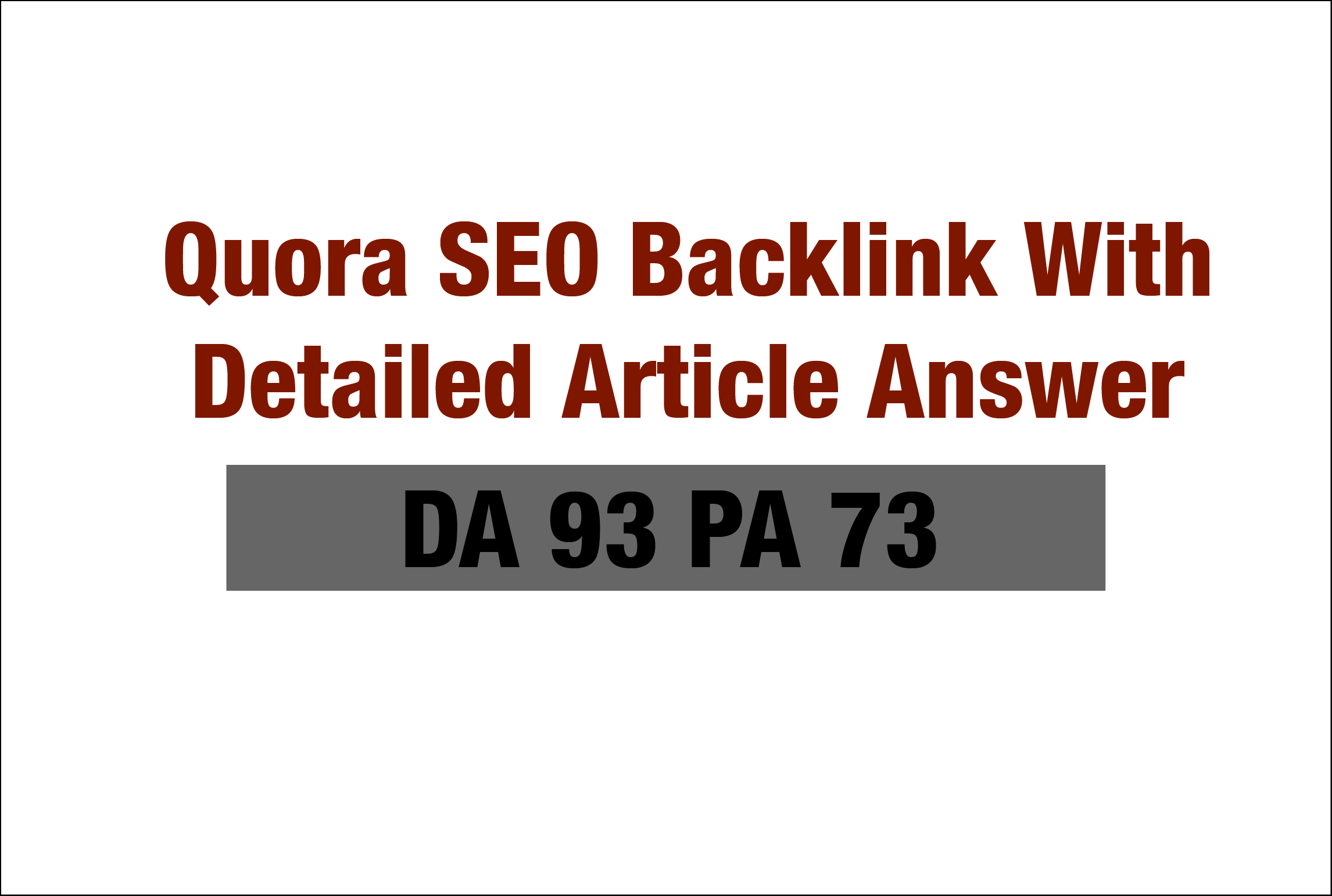 Quora Website SEO Back-link With Detailed Article Answer DA 93 PA 73