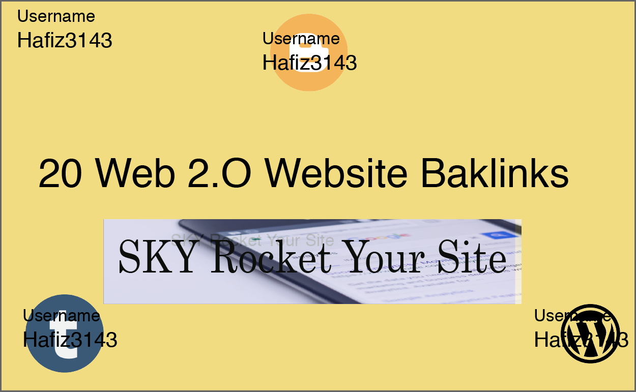 Manually Created 20 Web 2.0 Site Contextual Dedicated Back-links Sky Rocket Your Site
