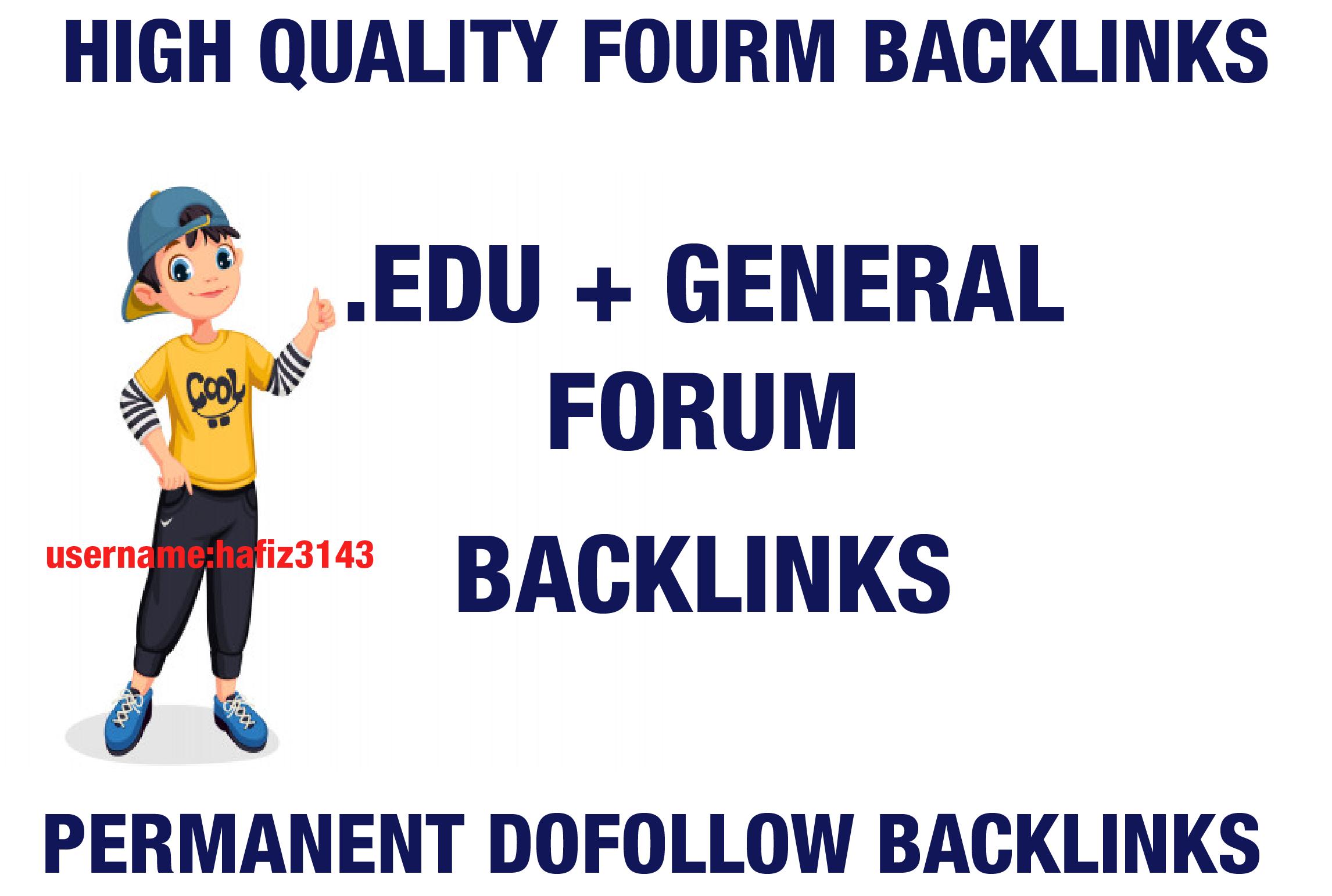 I will Provide. EDU Forum Contextual Backlinks MOZ High DA AHREFs DR Dofollow Backlinks