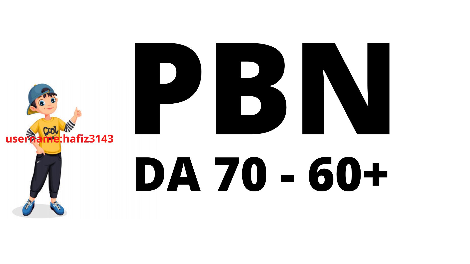 Build DA 70 To 60 Plus 250 PBN Links