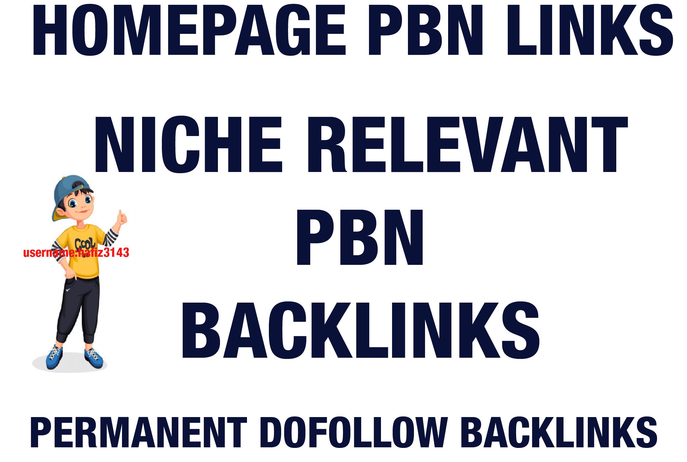 I will Provide 10 Niche Relevant Niche Edits PBN Backlinks