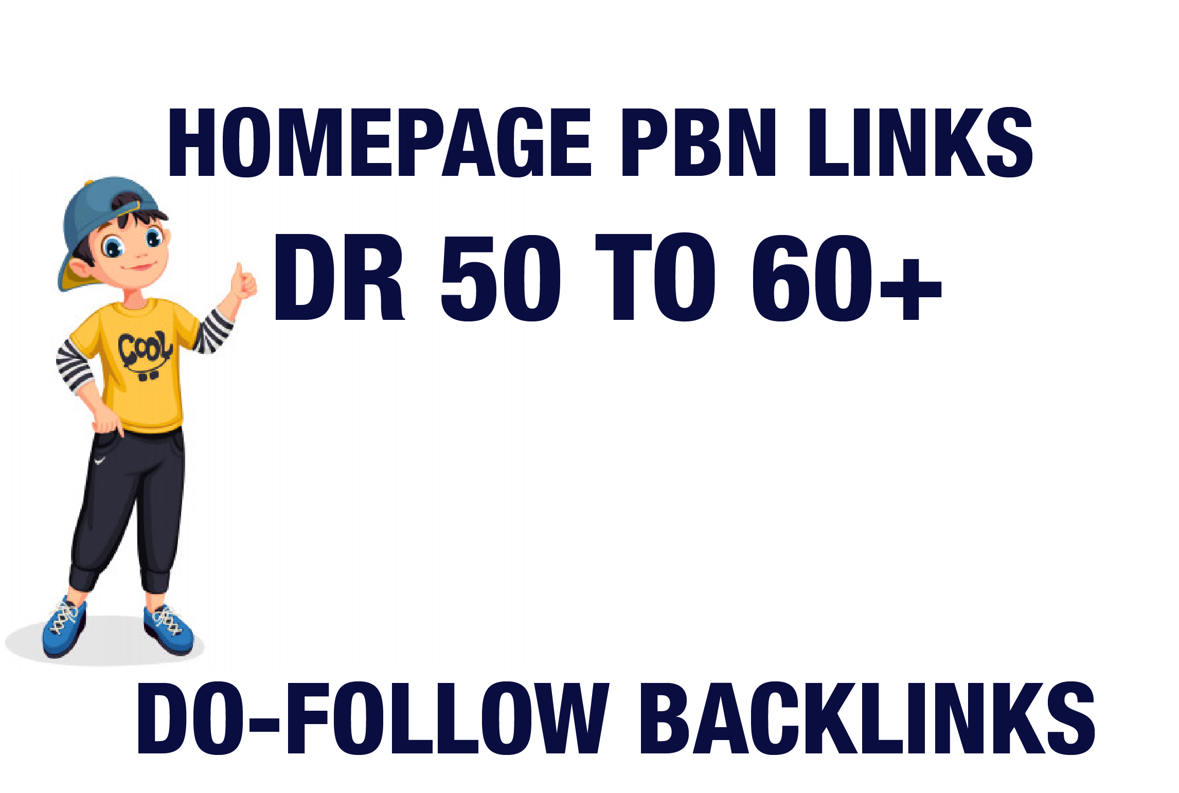 I will Provide 3 DR 50 TO 60 Plus Home Page PBN Backlinks