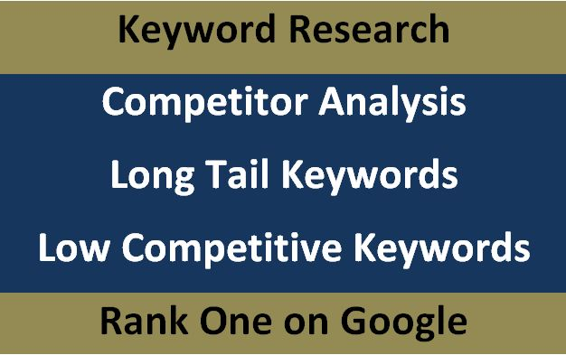 100 Keyword Research, Competitor Analysis