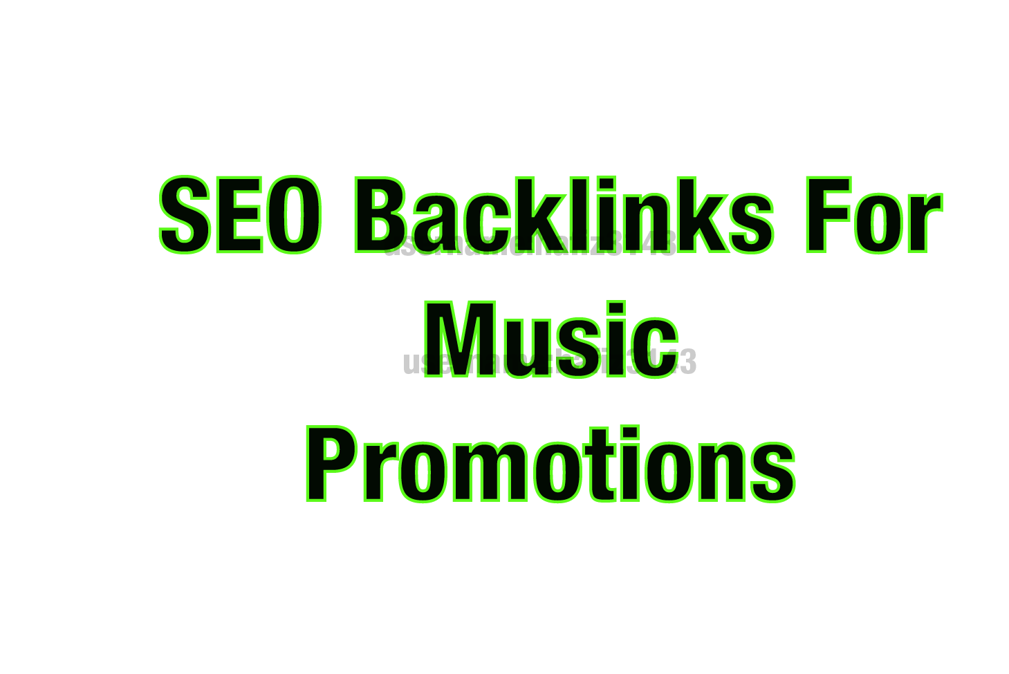 I will Provide High Quality SEO Backlinks For Music Video Promotion