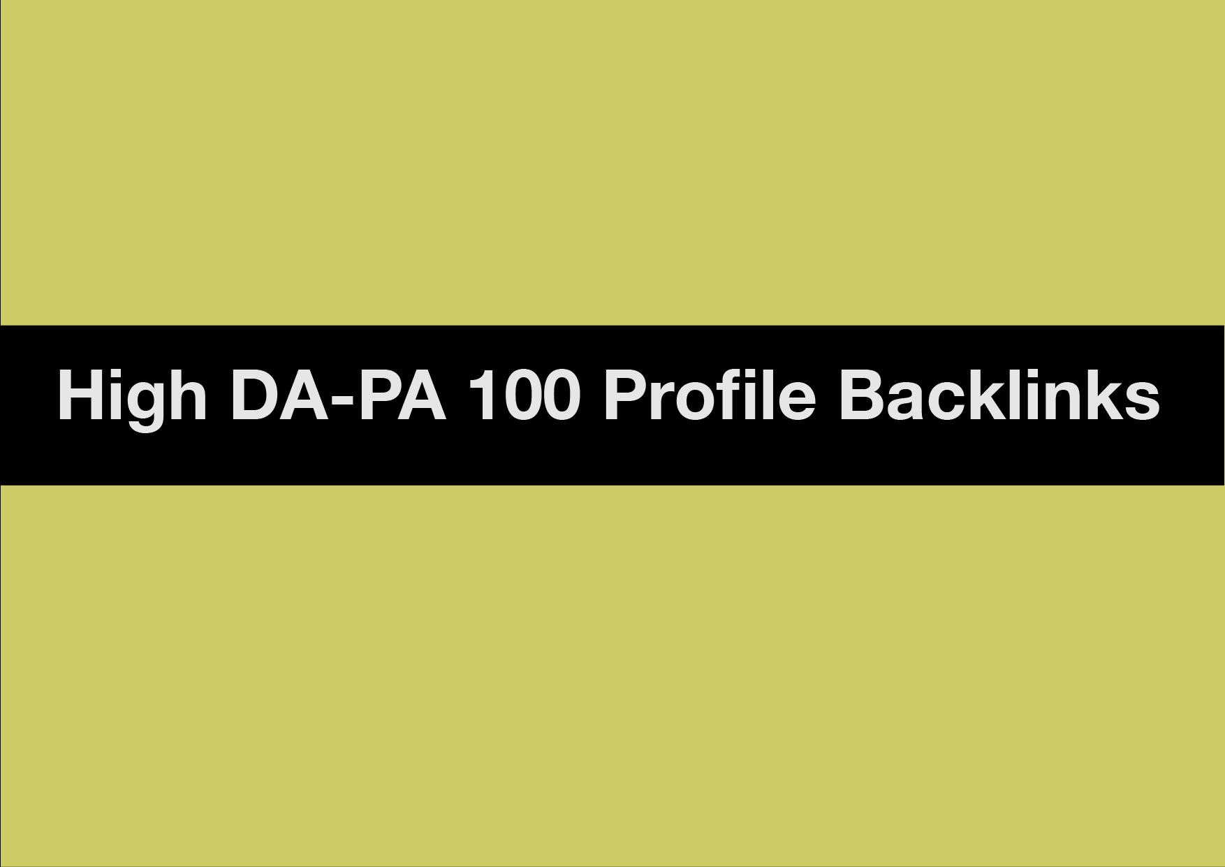 Profile Backlinks High DA-PA 10