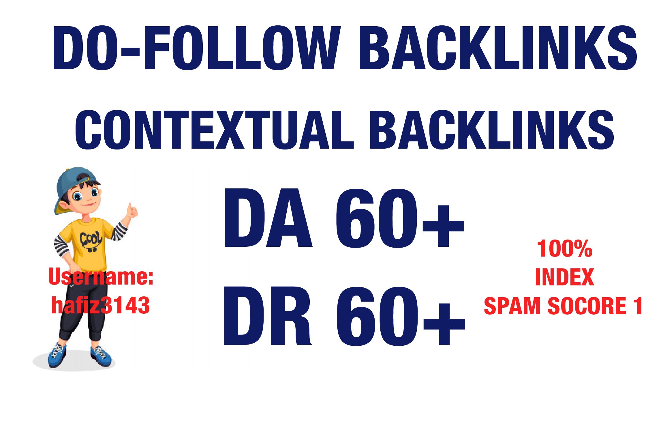 I will 3 Provide DA 85 To 60 Plus Dofollow Contextual SEO Backlinks